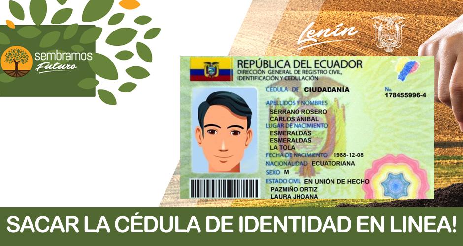 Cómo sacar un Turno para la emisión de la cédula de identidad en Ecuador - Registro Civil en Linea